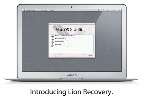 OS X Lion recovery
