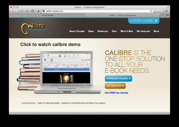 Calibre.app - open source e-reader
