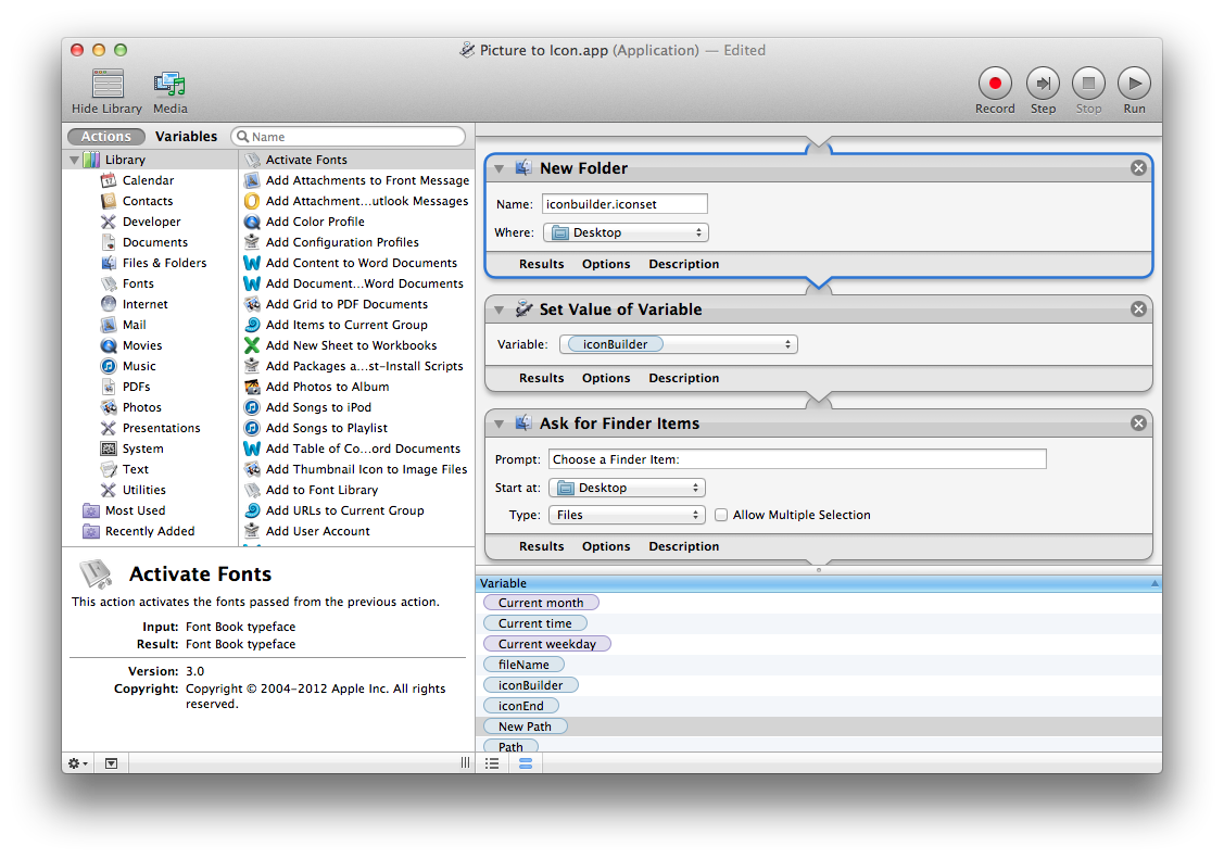 Excellent Automator Make Your Own Icons Download Free Architecture Designs Lukepmadebymaigaardcom