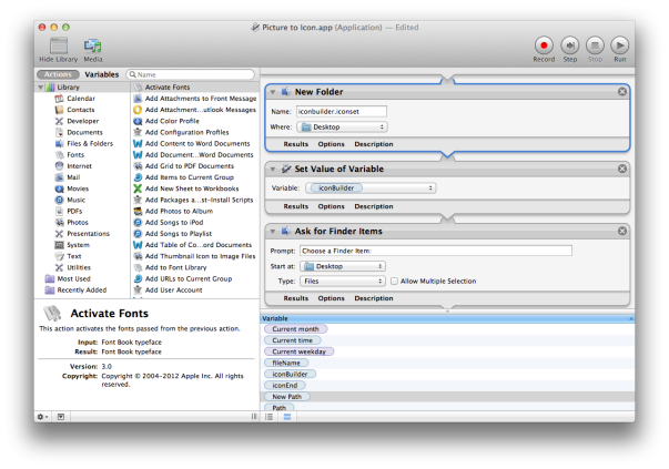 Automator in action
