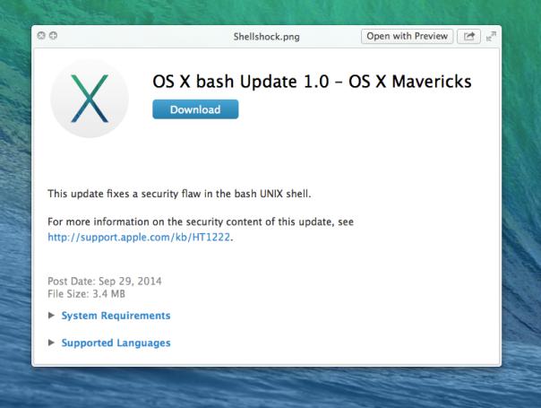 shellshock update bash