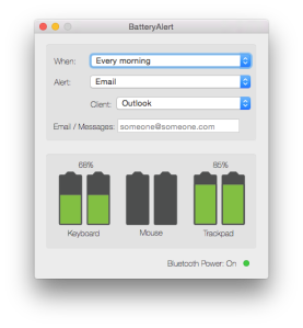BatteryAlert window