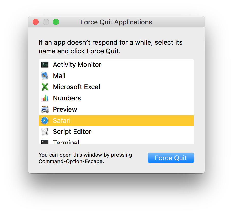 how to force quit word on mac without losing work