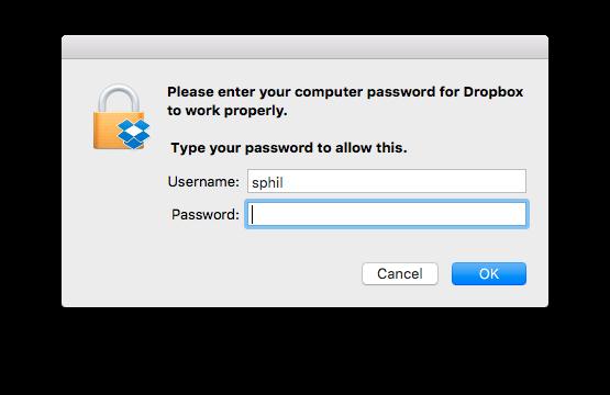 how to change dropbox password