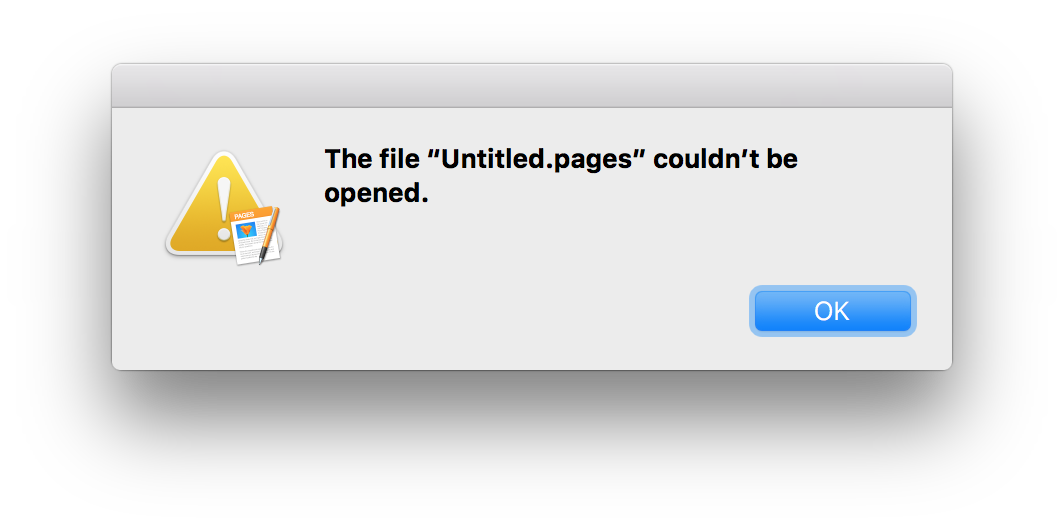 """iCloud Drive """"file couldn't be opened"""" 