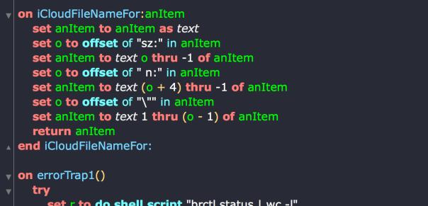 icloud daemon status script