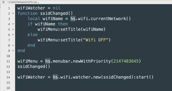how to display wifi name (ssid) in menu bar |