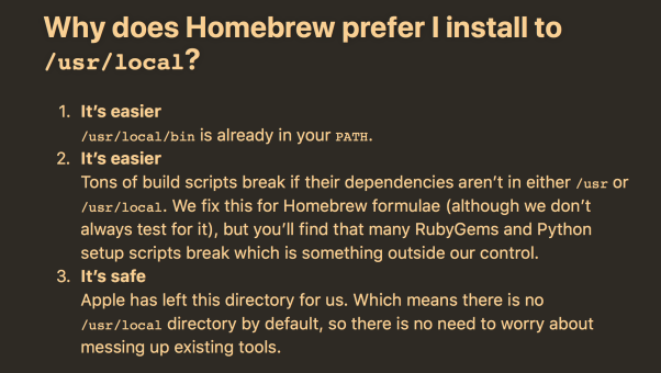 how Homebrew invites users to get pwned |